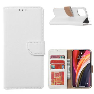 Bookcase Apple iPhone 12 Pro Max hoesje - Wit