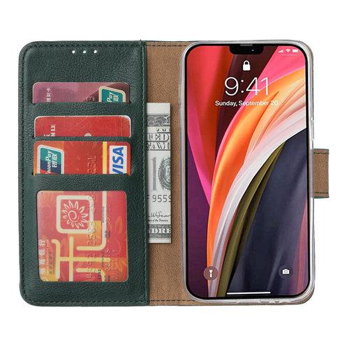 Bookcase Apple iPhone 12 Pro Max hoesje - smaragdgroen