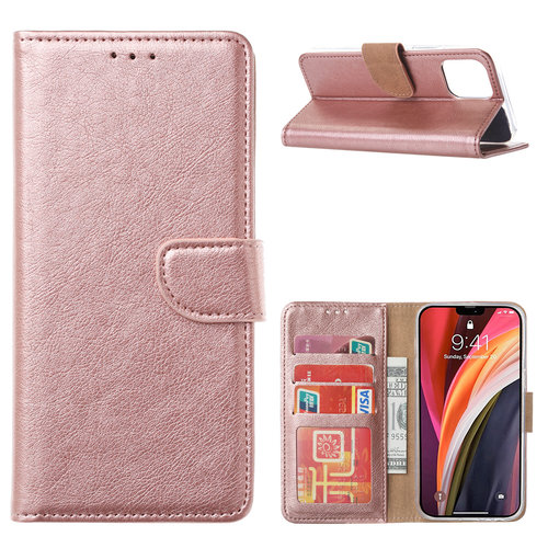 Bookcase Apple iPhone 12 Pro Max hoesje - Rosé Goud