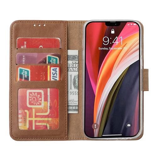 Bookcase Apple iPhone 12 Pro Max hoesje - Bruin