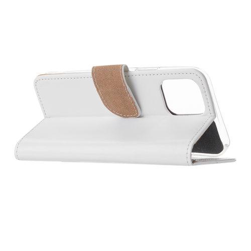 Bookcase Apple iPhone 12 hoesje - Wit