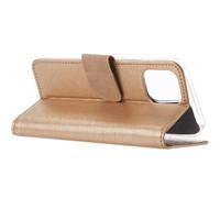 Bookcase Apple iPhone 12 hoesje - Goud