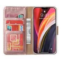 Bookcase Apple iPhone 12 hoesje - Rosé Goud