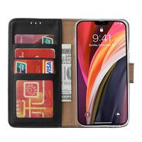 Bookcase Apple iPhone 12 hoesje - Zwart