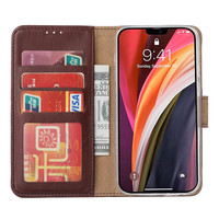 Bookcase Apple iPhone 12 hoesje - Bordeauxrood