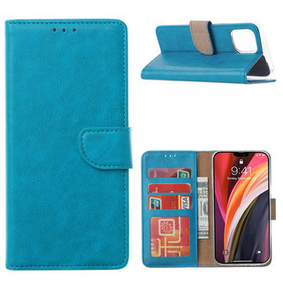 Bookcase Apple iPhone 12 hoesje - Blauw