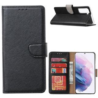 Bookcase Samsung Galaxy S21 Plus hoesje - Zwart