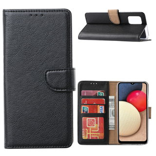 Bookcase Samsung Galaxy A02S hoesje - Zwart