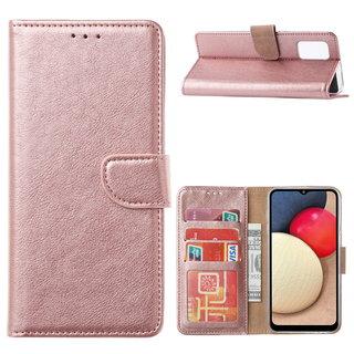 Bookcase Samsung Galaxy A02S hoesje - Rosé Goud