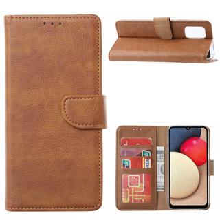 Bookcase Samsung Galaxy A02S hoesje - Bruin