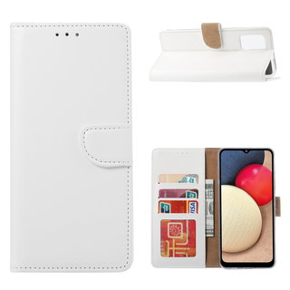 Bookcase Samsung Galaxy A02S hoesje - Wit