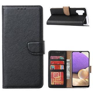 Bookcase Samsung Galaxy A32 hoesje - Zwart