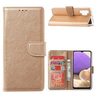 Bookcase Samsung Galaxy A32 hoesje - Goud