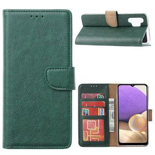 Bookcase Samsung Galaxy A32 hoesje - Smaragdgroen