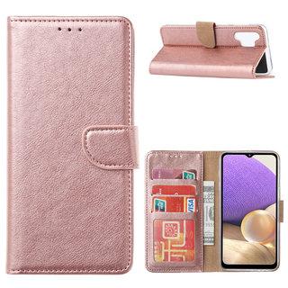 Bookcase Samsung Galaxy A32 hoesje - Rosé Goud