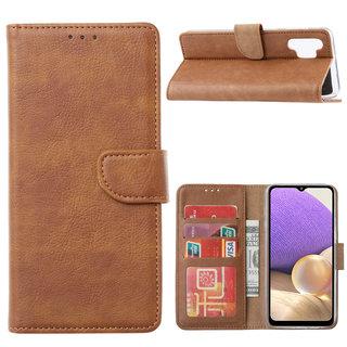 Bookcase Samsung Galaxy A32 hoesje - Bruin