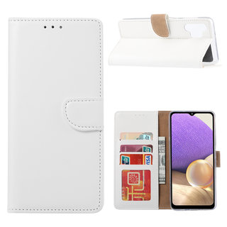 Bookcase Samsung Galaxy A32 hoesje - Wit
