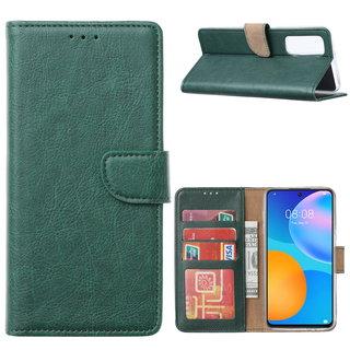 Bookcase Huawei P Smart 2021 hoesje - Smaragdgroen