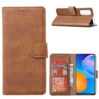 Bookcase Huawei P Smart 2021 hoesje - bruin