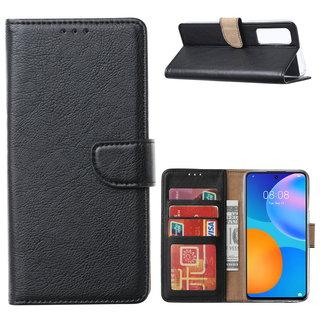 Bookcase Huawei P Smart 2021 hoesje - Zwart