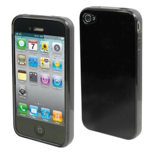 Apple iPhone 4 / 4S siliconen (gel) achterkant hoesje - Transparant