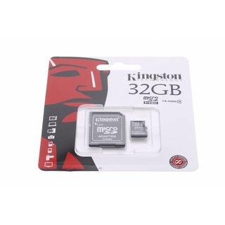 MicroSDHC Class 4 32GB geheugenkaart + adapter