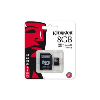 MicroSDHC Class 10 8GB geheugenkaart + adapter
