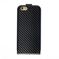 BMW Apple iPhone 6 Carbon-Look Flip Case - Zwart