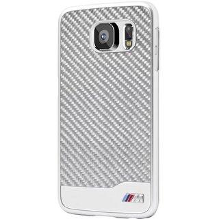 Hard Backcover Zilver Carbon hoesje voor de Samsung Galaxy S6