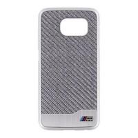BMW Hard Backcover Zilver Carbon hoesje voor de Samsung Galaxy S6