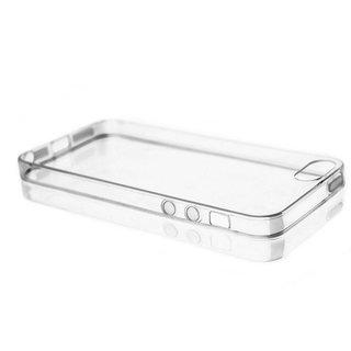 TPU Siliconen hoesje voor de achterkant van de Apple iPhone 5 / 5S - Transparant