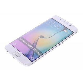TPU Siliconen hoesje voor de achterkant van de Samsung Galaxy S6 Edge - Transparant / Grijs