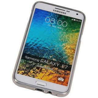 TPU Siliconen hoesje voor de achterkant van de Samsung Galaxy E7 - Transparant / Grijs / Roze / Bruin