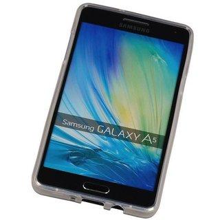 TPU Siliconen hoesje voor de achterkant van de Samsung Galaxy A5 - Transparant / Grijs / Roze / Bruin