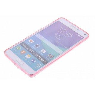 TPU Siliconen hoesje voor de achterkant van de Samsung Galaxy Note 4 - Transparant / Grijs / Roze / Bruin