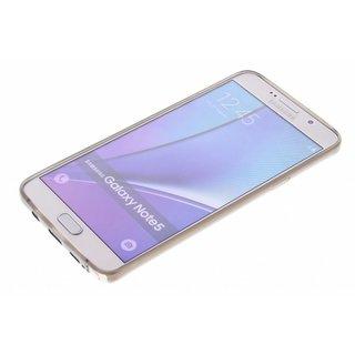 TPU Siliconen hoesje voor de achterkant van de Samsung Galaxy Note 5 - Transparant / Grijs / Bruin