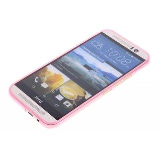 TPU Siliconen hoesje voor de achterkant van de HTC One M9 - Transparant / Grijs / Roze / Bruin