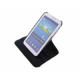 Samsung Galaxy Tab 3 7.0 inch (T210/T211/P3200) 360° Rotating Case - Roterende Hoes - Zwart / Wit
