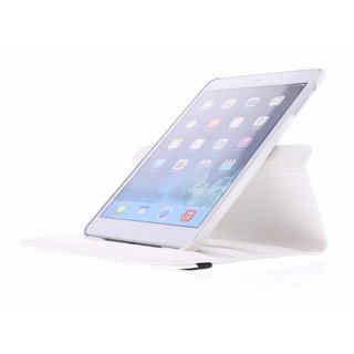 iPad Mini 1 360° Rotating Case - Roterende Hoes - Zwart / Wit