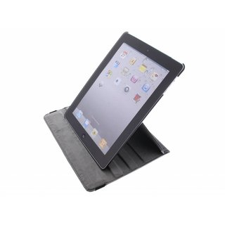 iPad 2 360° Rotating Case - Roterende Hoes - Zwart / Wit