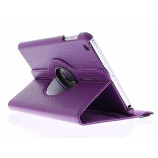 iPad 3 360° Rotating Case - Roterende Hoes - Roze / Paars