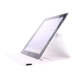 iPad 3 360° Rotating Case - Roterende Hoesje - Zwart / Wit