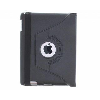 iPad 4 360° Rotating Case - Roterende Hoes - Zwart / Wit
