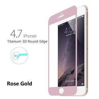 Titanium Alloy Fullscreen iphone 6 / 6S screenprotector - Rose Goud