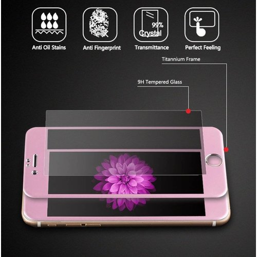 Apple iPhone 6 / 6S Screenprotector Titanium Alloy Fullscreen - Glas - Rosé Goud