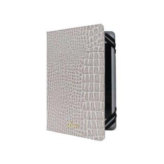 Originele Glossy Croco Universele Tablet Case hoesje 7″ / 8″ Inch - Beige