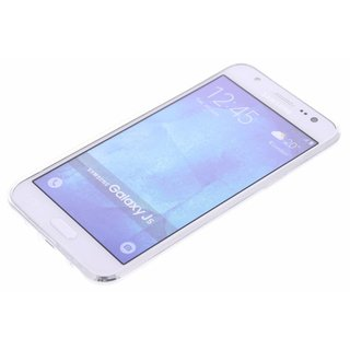 Samsung Galaxy J5 silicone achterkant hoesje - Transparant