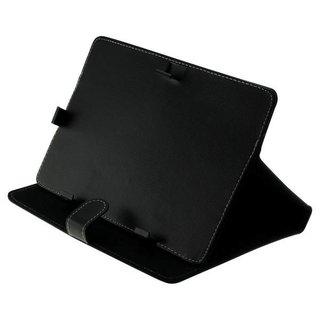 Universele tablet hoes 10.1 inch met standaard - Zwart