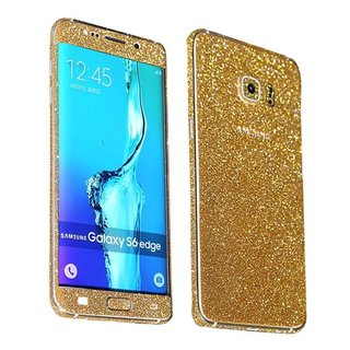 Samsung Galaxy S6 Edge Glitter Insulation Sticker - Goud / Zilver