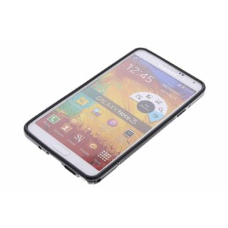 Samsung Galaxy Note 3 siliconen S-line (gel) achterkant hoesje - Zwart / Wit / Transparant